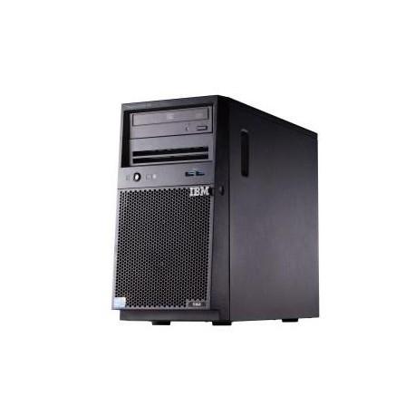 x3100 M5, Xeon 4C E3-1220v3 80W 3.1GHz/1600MHz/8MB, 1x4GB, O/Bay SS 3.5in SATA, SR C100, DVD-ROM, 350W p/s, Tower