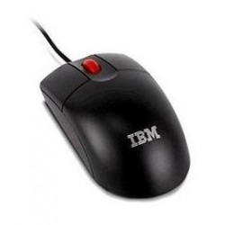 2 Button Optical Wheel Mouse - Black - USB
